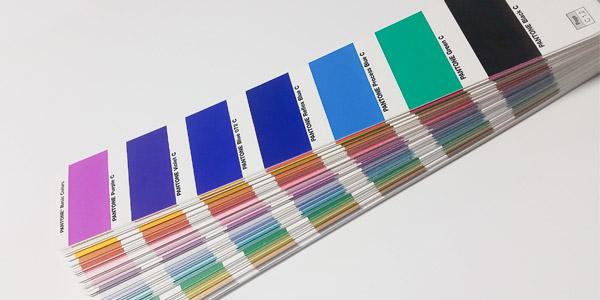 pantone book closeup of reflex blue versus process blue